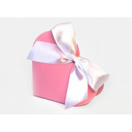 Krabička srdce růžová,