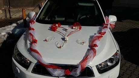 Svatební auto bílé,