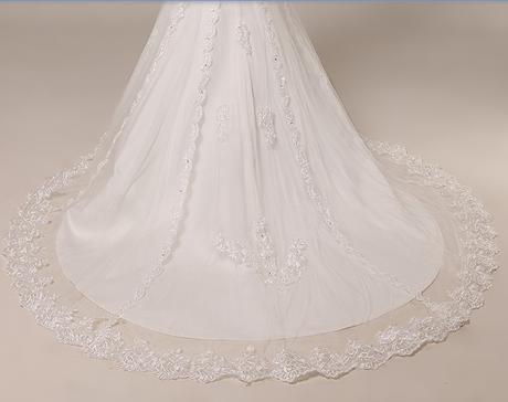 svatební šaty skladem ZDARMA ZÁVOJ A RUKAVICE, 38