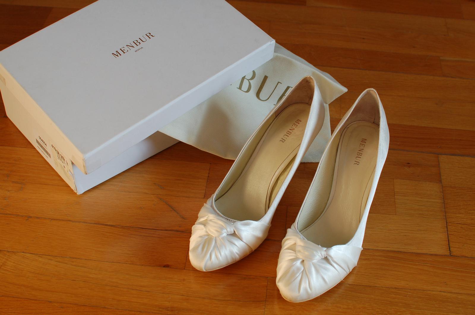 3b05c6420a Elegantné svadobné topánky zn. menbur