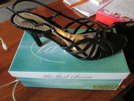 Spoločenské topánky čierno trblietkavé, 41
