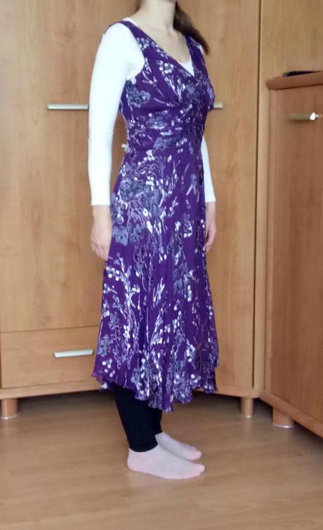 Spoločenské fialové šaty zn.Twiggy, 40