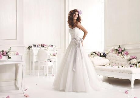 Tylové svadobné šaty - Colet 624, 42