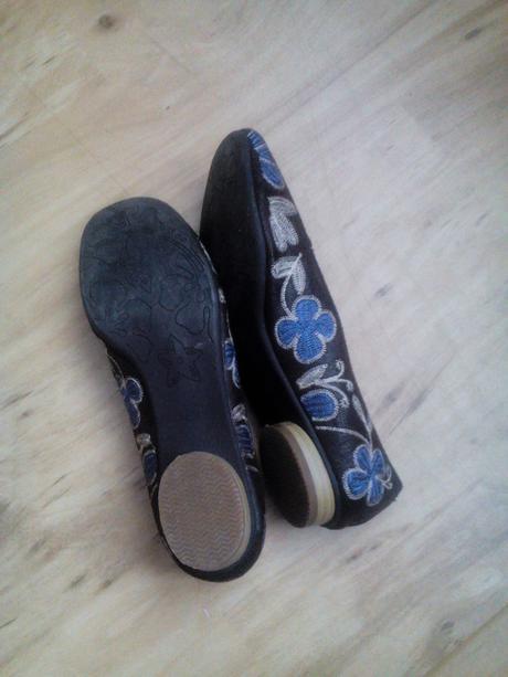 hnědé boty, balerínky, 39