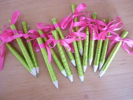 Zdobené tužky,