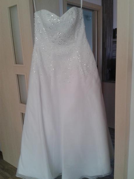 Svatební šaty korzetové vel. 42-44 , 42