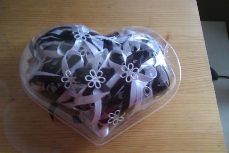 bílo - čokoládové vývazky 58ks,