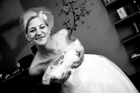 Krajkové svatební šaty - TYL, 38