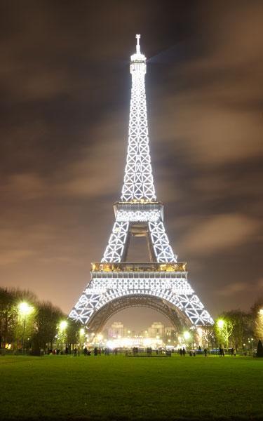 Obraz 75x120cm,  sleva -  Eiffelova věž,