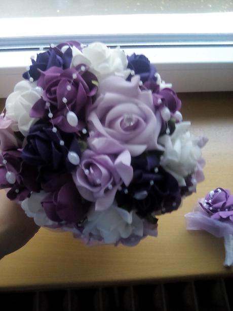 Kytice pro nevěstu a korsaž ,