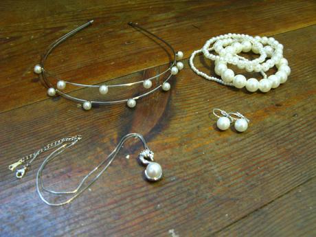 Šperky s perlou set,
