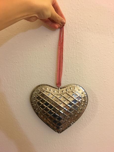 Dekorace srdce na pověšení,