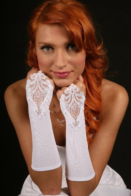 Svatební rukavičky Empír,