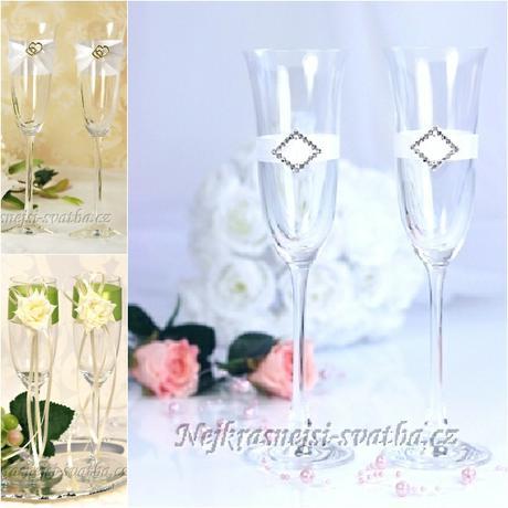Svatební skleničky k přípitku,