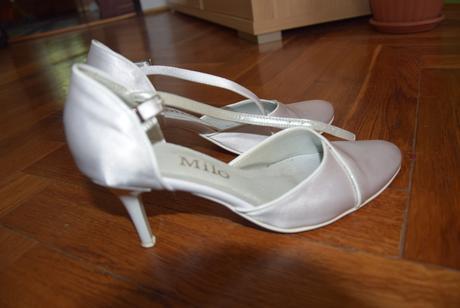 Biele svadobné topánky, 36