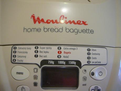 Pekáreň chleba a bagiet Moulinex,