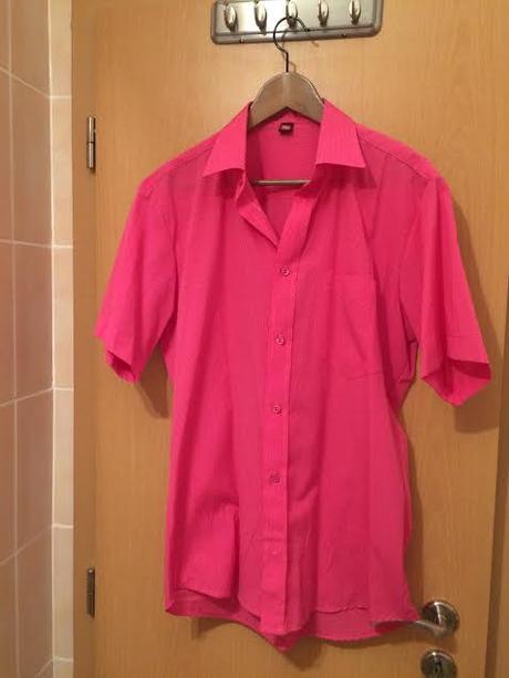 Sýta ružová pánska košeľa, 40