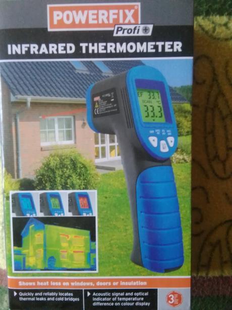 Infračervený prístroj na meranie teploty-nepoužitý,