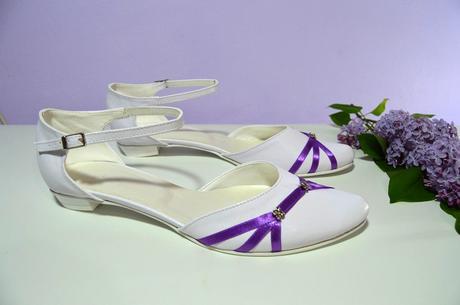 Svatební balerínky a boty nízkém podpatku, 39