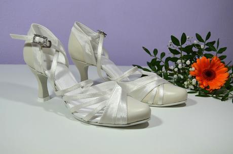 Svatební boty Ivory vel 36,5 pravá kůže i satén, 36