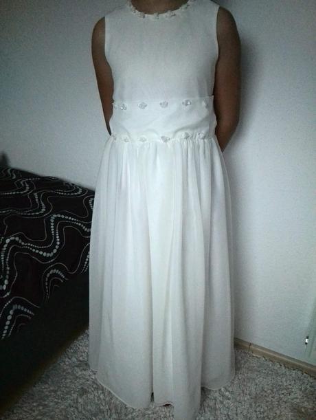 Smotanové šaty pre druzicku, 128