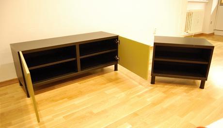 Na predaj skrinka pod TV IKEA, čierno-zelená,
