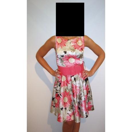 Farebné šaty s kvetmi - 38, 38