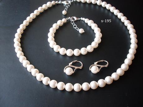Pravé perly  - sada s úpravou na želanie,