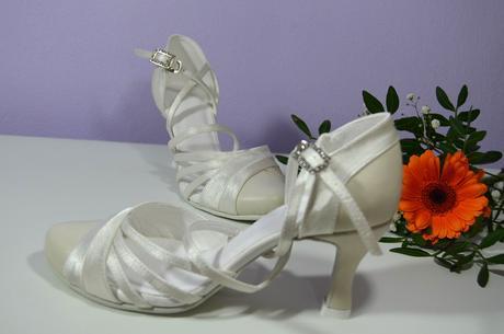 Svadobné topánky ivory pravá koža + satén,vel 36,5, 36