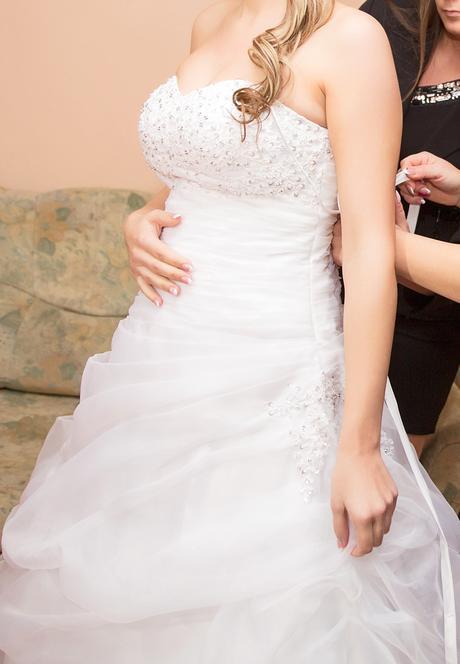 Svadobné šaty- aj výmena(sportový kočik), 40