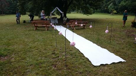 Svatební koberec 5 metrů,