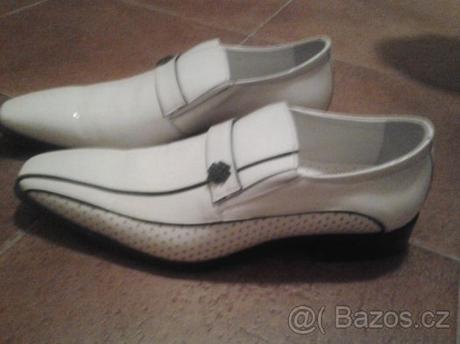 9ed511f5c30 Etor bílé pánské polobotky   boty k obleku