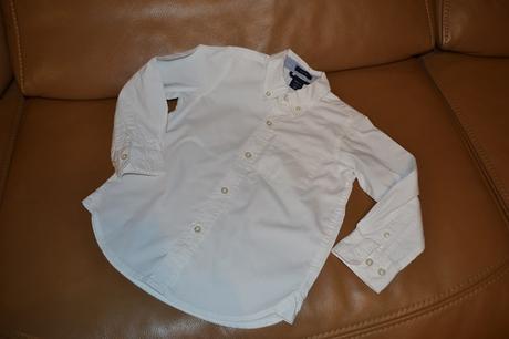 sněhově bílá společenská košile v. 4-5 let, 104