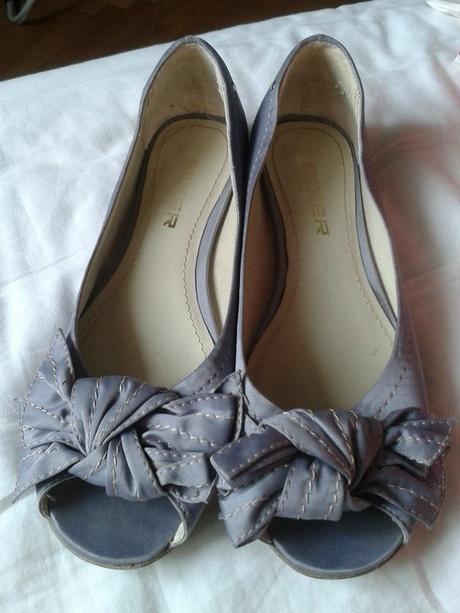Lila boty s otevřenou špičkou a saténovým povrchem, 38