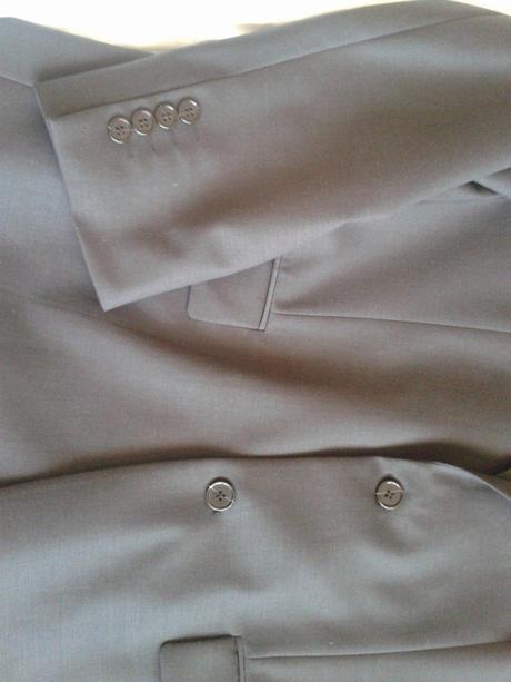 Pánský klasický oblek tmavě šedé barvy, 44
