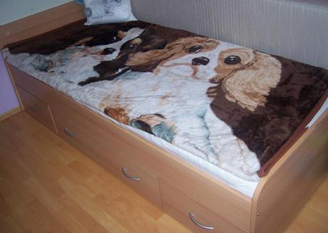 Vyššia posteľ s úložným priestorom, 90 x 200 cm ,