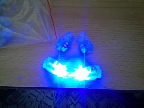 50 ks led žároviček modrá barva,