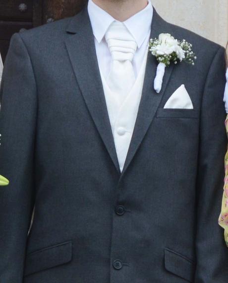 Svatební yvory kombinace -vesta, kravata, kapesník, 48