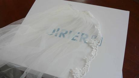 Svatební závoj s hřebínkem (275 cm),