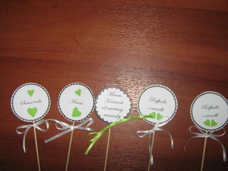 Dekorace na svatbu - zelená + motiv krajky,