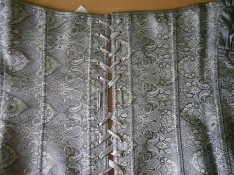 korzet šedý, XL