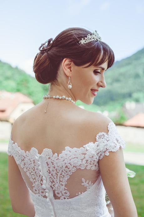 princeznovské svadobné šaty 36-38 , 36