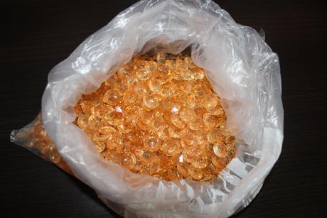 zlaté lesklé kamienky - 400 ks,