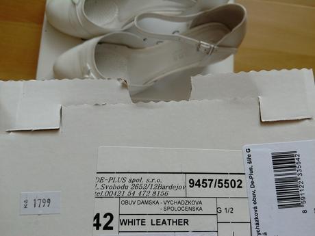 Svatebni boty vel. 42, 42