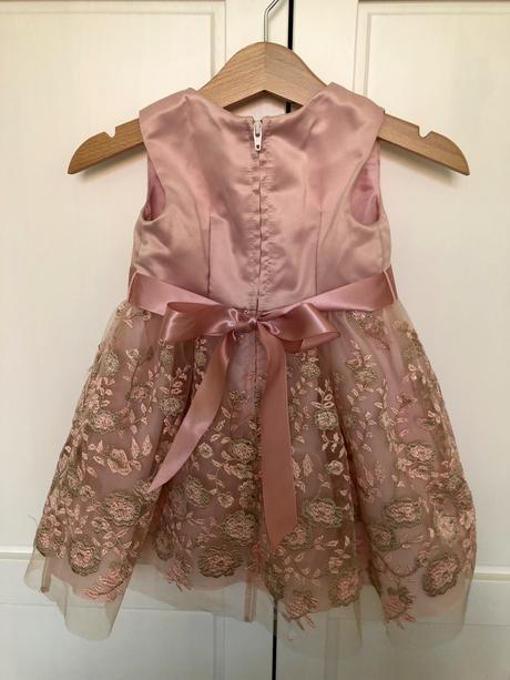 šatočky pre 1-ročné dievčatko v ružovej farbe, 80