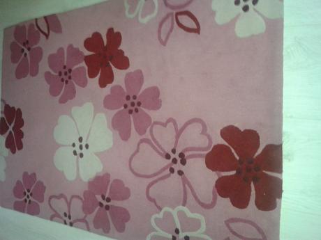 ružový koberec,