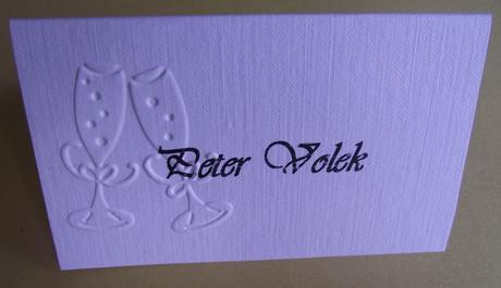 Menovky - embosovaný vzor - svadobné poháre ,