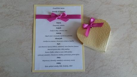 Svadobné menu ,