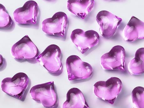 Srdce fialové LILA,