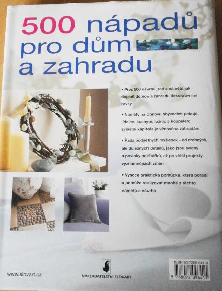 """Kniha """"500 nápadů pro dům a zahradu"""","""